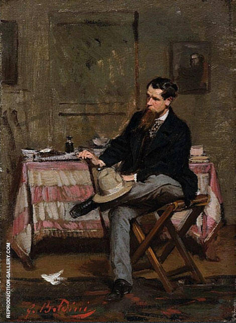 The Painter Vincenzo Cabianca 1909 By Giovanni Boldini
