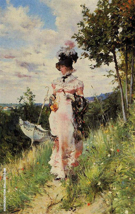 The Summer Stroll By Giovanni Boldini