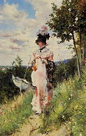 The Summer Stroll By Giovanni Boldini