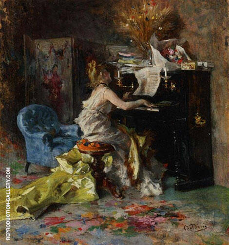 Woman at Piano By Giovanni Boldini