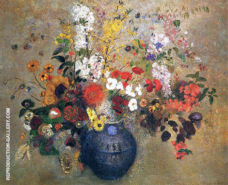 Flowers 1909 By Odilon Redon