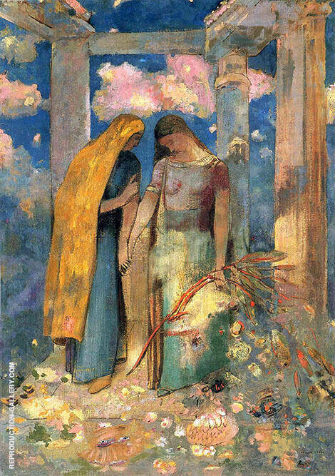 Mystical Conversation 1896 Painting By Odilon Redon - Reproduction Gallery