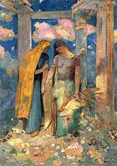 Mystical Conversation 1896 By Odilon Redon