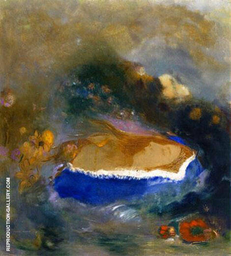 Ophelia with Blue Cape 1905 Painting By Odilon Redon