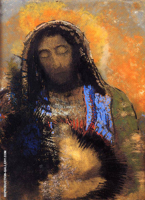 Sacred Heart 1910 By Odilon Redon
