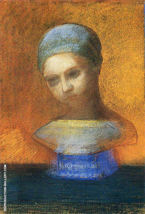Small Bust of a Young Girl By Odilon Redon
