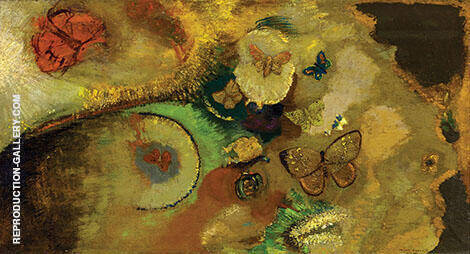 The Dream of Butterflies c.1910 By Odilon Redon