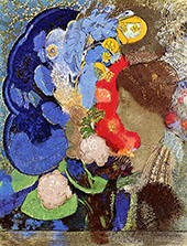 Woman with Flowers 1903 By Odilon Redon