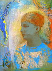 Young Girl Facing Left By Odilon Redon