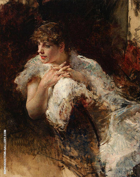 A Lady from Naples 1872 Painting By Giuseppe De Nittis