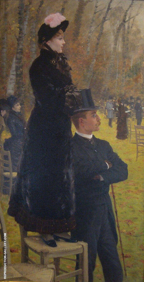 At The Races Auteuil on The Chair 1881 Painting By Giuseppe De Nittis