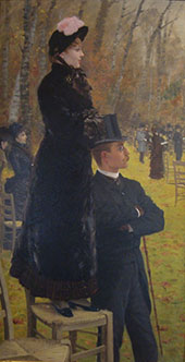 At The Races Auteuil on The Chair 1881 By Giuseppe De Nittis