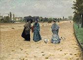 Avenue de bois du Boulogne 1874 By Giuseppe De Nittis