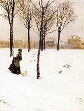A Winter Landscape 1875 By Giuseppe De Nittis