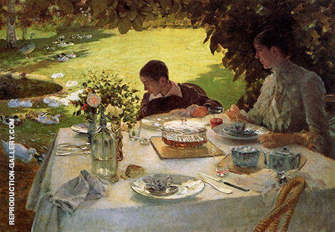 Breakfast in The Garden 1883 By Giuseppe De Nittis