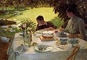 Breakfast in The Garden 1883 By Giuseppe De Nittis