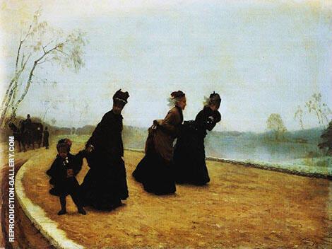 Che Freddo 1874 By Giuseppe De Nittis