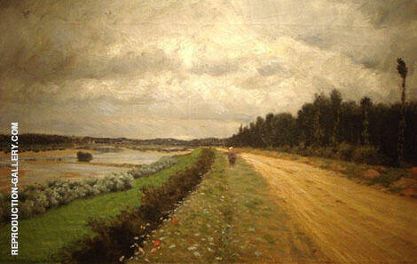 Country Road The Bank of The Ofanto 1870 By Giuseppe De Nittis