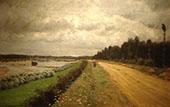 Country Road The Bank of The Ofanto 1870 By Giuseppe De Nittis