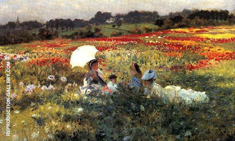 InThe Fields Around London By Giuseppe De Nittis