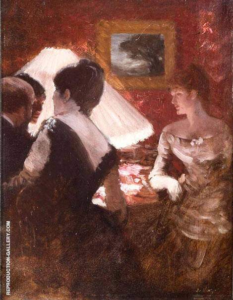 In The Lamplight 1883 By Giuseppe De Nittis