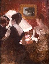 In The Lamplight 1883 By Giuseppe De Nittis