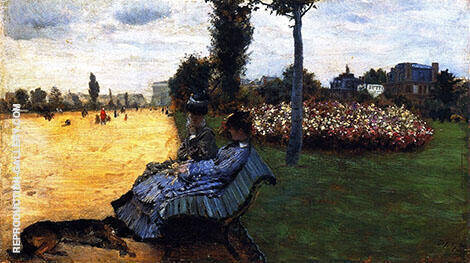 On The Bench of The Champs Elysees 1878 By Giuseppe De Nittis
