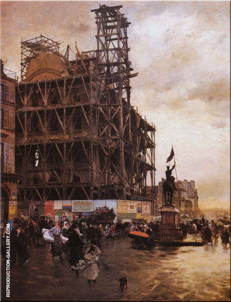 Place des Pyramides 1876 Painting By Giuseppe De Nittis