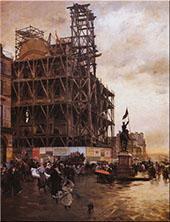 Place des Pyramides 1876 By Giuseppe De Nittis