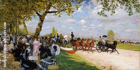 Return From The Races 1875 By Giuseppe De Nittis