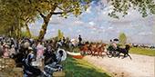 Return From The Races 1875 By Giuseppe De Nittis