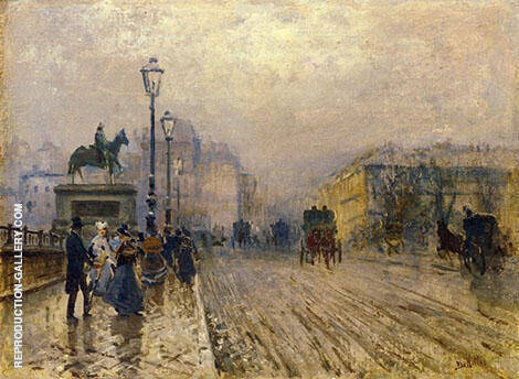 Rue de Paris with Carriages By Giuseppe De Nittis