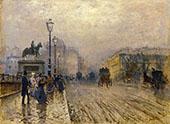 Rue de Paris with Carriages By Giuseppe De Nittis