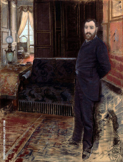 Self Portrait 1883 By Giuseppe De Nittis