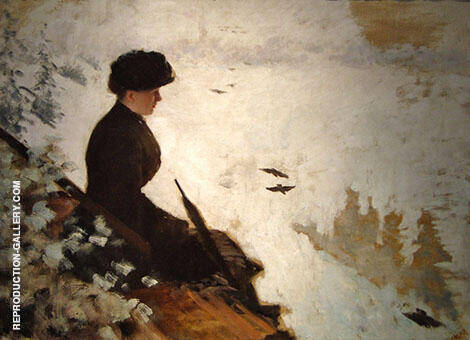 Snow Scene 1880 Painting By Giuseppe De Nittis - Reproduction Gallery