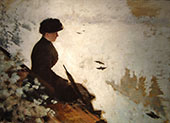 Snow Scene 1880 By Giuseppe De Nittis