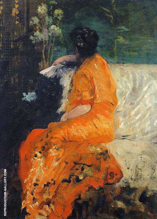 The Orange Kimono 1878 Painting By Giuseppe De Nittis