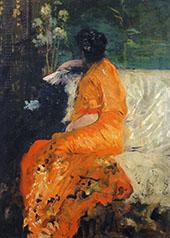 The Orange Kimono 1878 By Giuseppe De Nittis