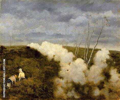 The Passing of a Train By Giuseppe De Nittis