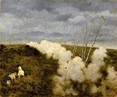The Passing of a Train By Giuseppe De Nittis
