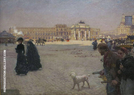 The Place du Carousel Courtyard and The Tuileries in Ruins 1882 By Giuseppe De Nittis