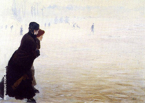 The Skating Lesson By Giuseppe De Nittis