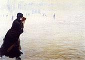 The Skating Lesson By Giuseppe De Nittis