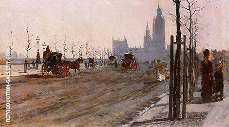 The Victoria Embankment London 1875 By Giuseppe De Nittis
