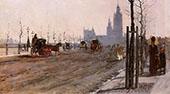 The Victoria Embankment London 1875 By Giuseppe De Nittis