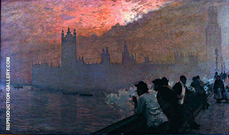 Westminster 1878 Painting By Giuseppe De Nittis - Reproduction Gallery