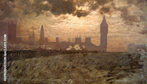 Westminster Bridge 1878 Painting By Giuseppe De Nittis