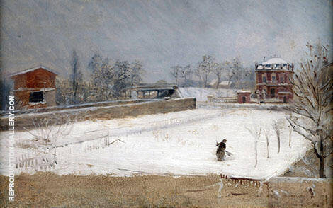 Winter Landscape 1880 By Giuseppe De Nittis