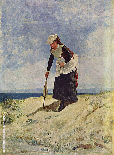Woman on The Beach By Giuseppe De Nittis