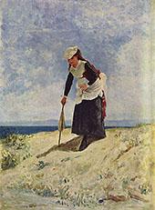 Woman on The Beach By Giuseppe De Nittis